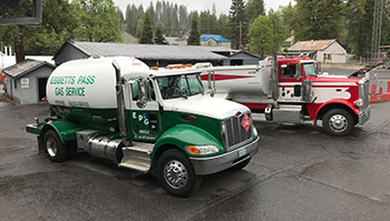 Ebbetts Pass Gas Service Propane Trucks